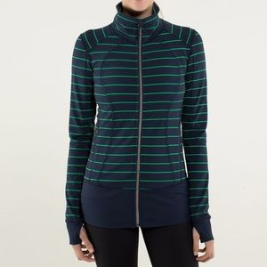 LULULEMON  Women Navy Blue & Green Full Zipper 6